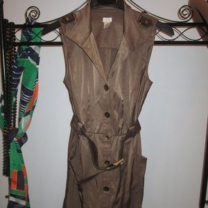 Cache' Military Style Brown Dress Size 8